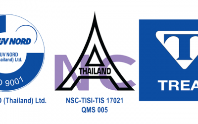 Treat Chemical Co,.Ltd was certify ISO 9001:2008 By TUV NORD Co,.Ltd (Thailand)
