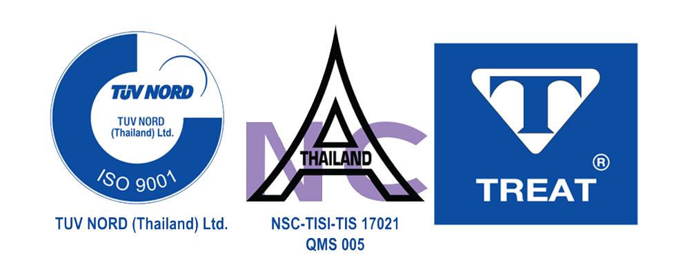 ทรีท เคมิคอล ได้รับการรับการรับรอง ISO 9001:2008